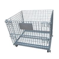 Steel Foldable Wire Mesh Containercustom Wire Container wire containers Exporter thumbnail image