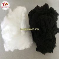 White and Black polyester staple fiber/recycled PSF/regenerated HCS/HC thumbnail image