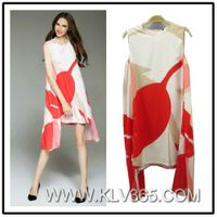 China Wholesale Designer Women Fashion Printed Casual Dress