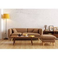 Modern Simple Style Pure Color Fabric Sofa