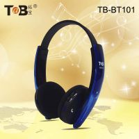 Stereo Folding Stretchable Bluetooth Headphone Headband Headset with built-in mic for audio device thumbnail image