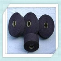 Black recycled yarn for weaving socks
