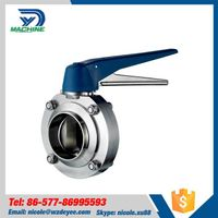 Sanitary Stainless Steel Welding Butterfly Valve thumbnail image