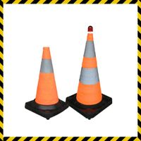 rubber foldable road traffic barrier