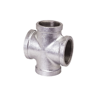 galvanized malleable iron pipe fitting pipe cross