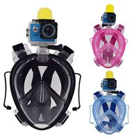 Underwater full face snorkeling diving mask with clip for GoPro, earplugs