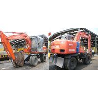 Used excavator Hitachi EX100WD, Used Hitachi wheel excavator thumbnail image