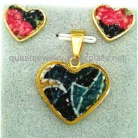 Princess jewelry Wholesale Sculpture pendant Party Wedding semiprecious 18k Gold plate