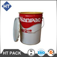 20L Metal Open Head Pails.conical paint pail