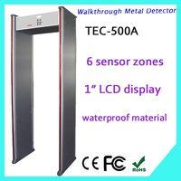metal detectors walk through gate, walk through metal detector TEC-500A walk through scanner