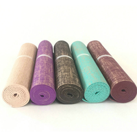 Flax PVC Yoga mat Non-slip Gym Mat OEM are available thumbnail image