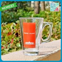Top selling coffee glass cup with handle promotional coffee mugs