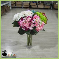 Factory Direct Artificial Fabric Hydrangea Flower