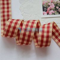 Check Ribbon, Plaid Ribbon, Gingham ribbon, Scrapbook Ribbon, Tartan ribbon thumbnail image