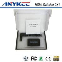 Factory cost 3D 1080P IR control 2x1 2 in 1 out HDMI switch