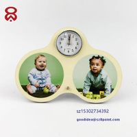 Cartoon type Sublimation MDF personal printing Wooden desk clock alarm thumbnail image