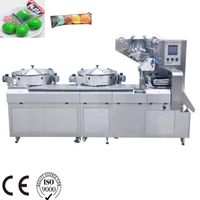 Automatic Disc feeding two color Multi-Function high speed Automatic flow wrapper package machine thumbnail image