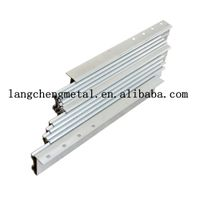 aluminum multi section console table slide extending mechanism for dining table thumbnail image