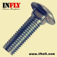 US Carriage Bolt in inch ASTM A307A Round Head Square Neck Bolt-Infly Fasteners Manufacturers
