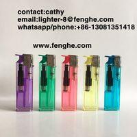 FH-816 slide button electronic lighter disposable lighter custom thumbnail image