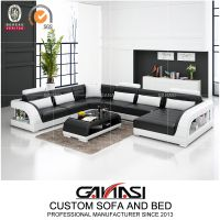 Big House Modern Design Living Room Leisure Leather Sofa