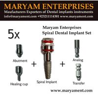 Spiral dental implant set Dental implant Maryam enterprises