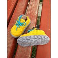handmade crochet infant booties
