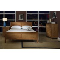 Double Solid Oak Bed Bedroom Furniture Lifestyle Design