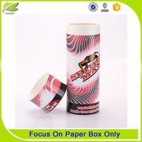 Handmade printing paper round tube gift box