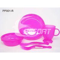 5pcs plastic PP dinnerware set for children