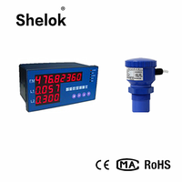 Embedded ultrasonic open channel flow meter water