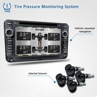 Hot selling Car DVD navigation display TPMS, tire pressure monitoring system