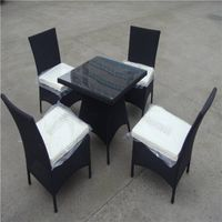 Fashionable wicker dining set & cheap wicker sofa