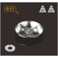 PMMA plano LED lens 10 degree