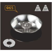 Plastic PMMA LED lens 65mm 10degree