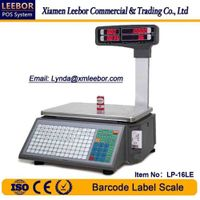 Electronic Barcode Label Printing Scale, Supermarket Counting Price Computing Weighing Instrument thumbnail image