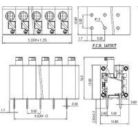 China Supplier Screwless Terminal Blocks DG236 Series Pcb Spring Type thumbnail image