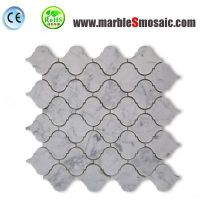 Arabesque White Marble Mosaic Tile
