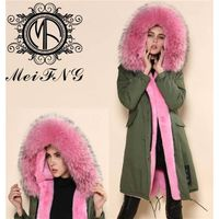 Korean style womens down parkas