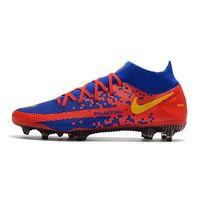 Nike Phantom GT Elite Dynamic Fit FG - Blue Red Yellow Soccer Cleats