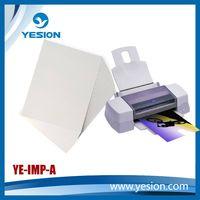 Self adhesive photo paper