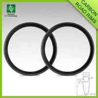 CRM50C-23 700C carbon bicycle 50mm depth 23mm width Clincher/Tubular 3K matte Road Bike Rim