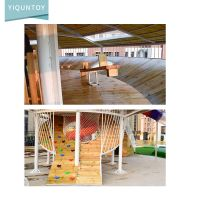 Customized Children Outdoor Playground Climbing Nets And Small Plastic Slide For Kids