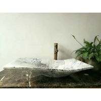 China Carrara White marble sinks, Carrara bath basin, white marble vessel sinks