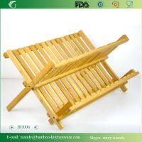 Bamboo Dish Rack for Kitchen Utensils