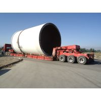Chinese made wind tower transport semi trailer | wind blade tower trailer | hydraulic control wind t
