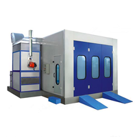 CE approved model car spray paint booth diesel burner spray booth for sale