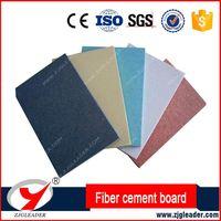 Colorful fiber cement board