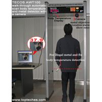 Walk-through scan flu & virus body fever thermometer & metal detector with camera thumbnail image