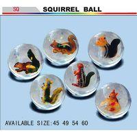 Bouncing balls or bouncy balls